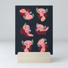 Umpearl the Axolotl Mini Art Print
