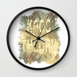 Kaos theory on sandy fractal Wall Clock