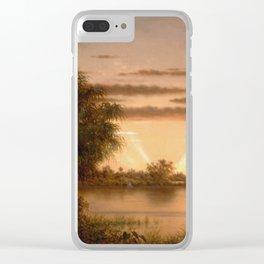 Martin Johnson Heade - Florida Sunrise Clear iPhone Case