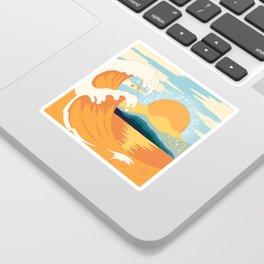 Orange wave Sticker