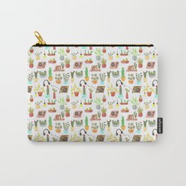 watercolor vinyl records and cacti Carry-All Pouch