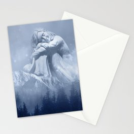 Wintry Woman of the Mountain Stationery Cards