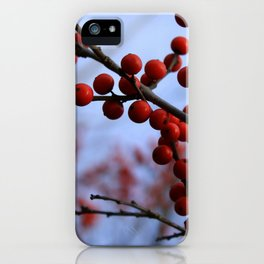 Red Winterberries iPhone Case