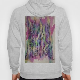 Colorful Rainbow Abstract Aspen Tree Colorado Painting Hoody
