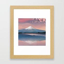 mt fuji Framed Art Print