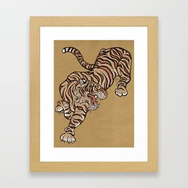 Tiger in Asian Style Framed Art Print