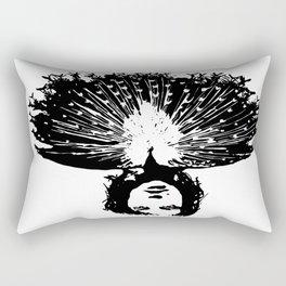 Lady Peacock Rectangular Pillow