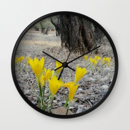 October Bloom Wall Clock