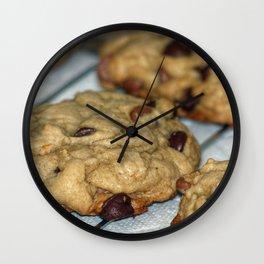 Orange Chocolate Chip Cookies Wall Clock