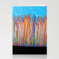 grass Stationery Cards featuring Grass by Brontosaurus