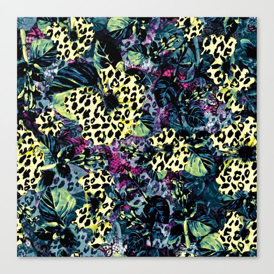 Golden Flowers II Canvas Print