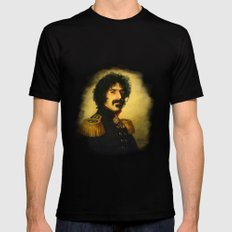 Frank Zappa - replaceface Black LARGE Mens Fitted Tee