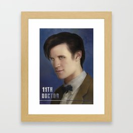 11th Doctor -Doctor Who Framed Art Print