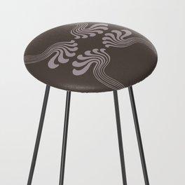 Art Nouveau Paisley Counter Stool
