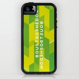 Boustrophédon iPhone Case