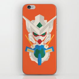 gundam exia flat design iPhone Skin