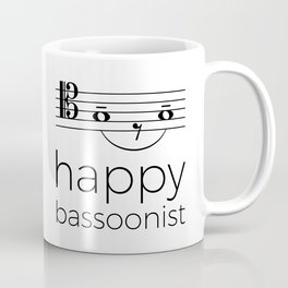 Happy bassoonist (light colors/tenor clef) Coffee Mug