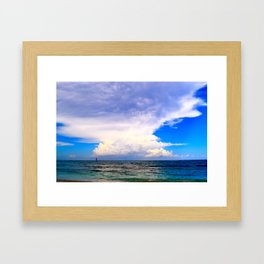 Warm Weather Skies Framed Art Print