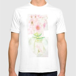 Collage Love - Inspired by David Hockney - Pink Gerberas  T-shirt