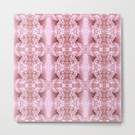 Pastel Old Rose Flower Pattern Metal Print
