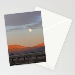 Sierra Valley Moonrise Stationery Cards