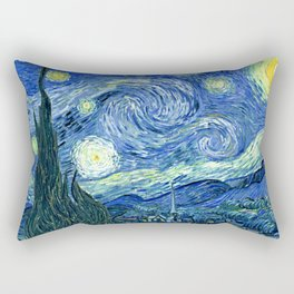 Vincent van Gogh Starry Night 1889 Rectangular Pillow