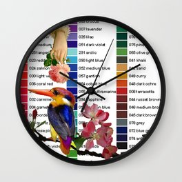 Colour Chart with Kingfisher Wall Clock