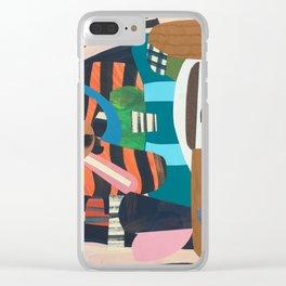 Zebra Skin Clear iPhone Case