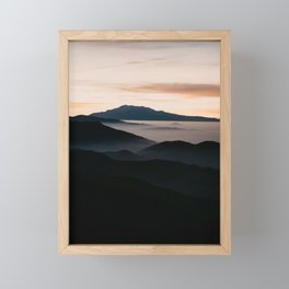 CLOUDY MOUNTAINS Framed Mini Art Print