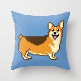 8-Bit Corgi Throw Pillow