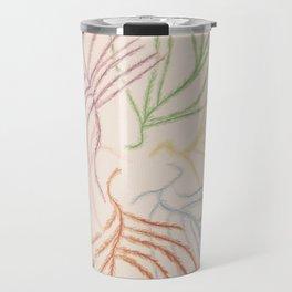 Pastel Coloured Feather Print Travel Mug