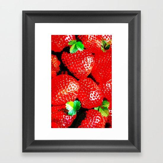 STRAWBERRY for IPhone Framed Art Print