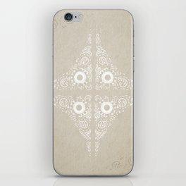 Pata Pattern in White iPhone Skin