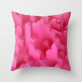 Abstract Shapes in Pink Throw Pillow