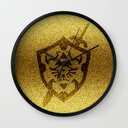 zelda shield gold Wall Clock