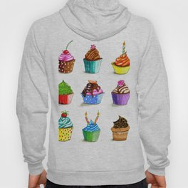 Illustration of tasty cupcakes Hoody