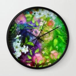 Floral Fantasy 8 Wall Clock