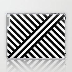 B/W two way diagonal stripes Laptop & iPad Skin