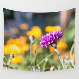 Purple Flower Photography Print Wall Tapestry