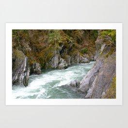around the riverbend Art Print