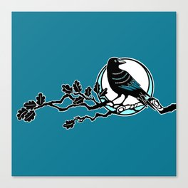Crow and Oak Canvas Print