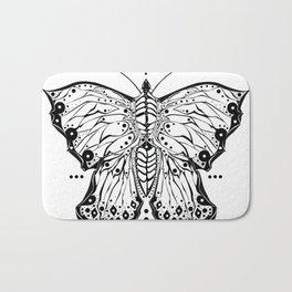 Tribal Butterfly Bath Mat