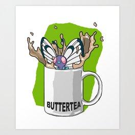 Buttertea Art Print