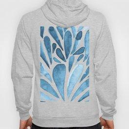 Watercolor artistic drops - blue Hoody
