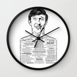 Alan Partridge Kiss My Face Wall Clock