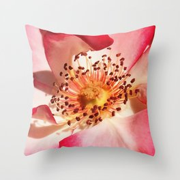 Pomagranate Red Spring Blossom Throw Pillow