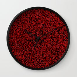 thought 2, red on black Wall Clock