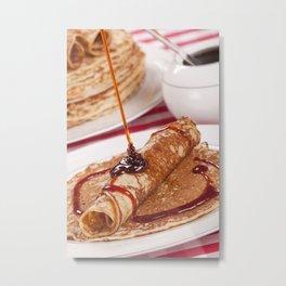 I - Dutch pancakes with syrup or 'pannenkoeken met stroop' Metal Print
