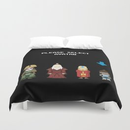 Avatar Selection Screen Duvet Cover