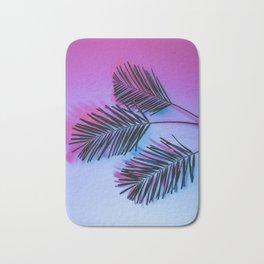 Seapunk Palm Leaves, Palm Leaf, Palm Tree Lover, 80s vibes Bath Mat